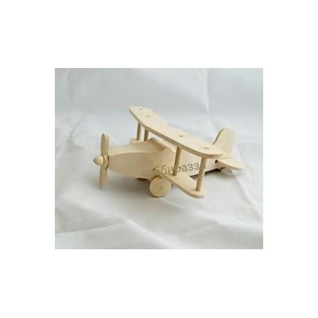 деревянная заготовка-игрушка самолетик