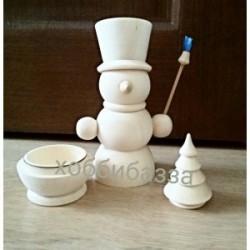 Снеговик (с елочкой)