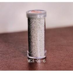 Микробисер в тубе MGA-01-6 серебро