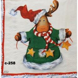 Салфетка Рождественский лось