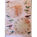 Декупажная карта Циферблаты упоение летом