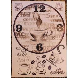 Декупажная Карта Циферблат Кофе