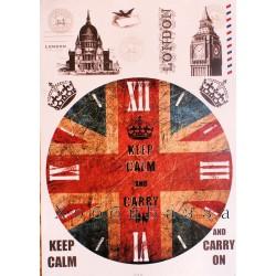 Декупажная карта Циферблат Лондон
