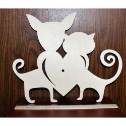 Циферблат часов Влюбленные кошки