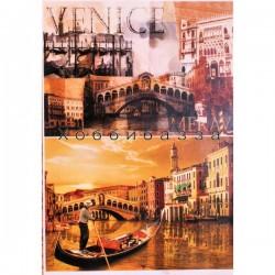 Декупажная карта Венеция