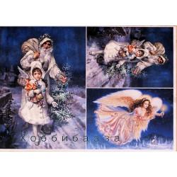 Декупажная карта Рождественский ангел №2