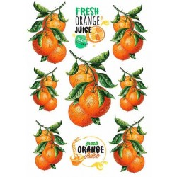 Декупажная карта Апельсины