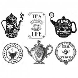 Декупажная карта Чайная жизнь