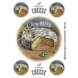 Декупажная карта Сыр