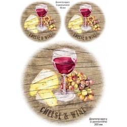 Декупажная карта Сыр и вино