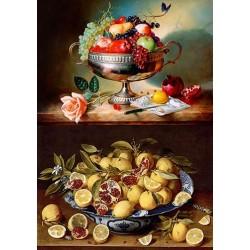 Декупажная карта Чаша с фруктами