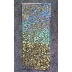 Наклейка контурная Снежинки и олени - серебро голография