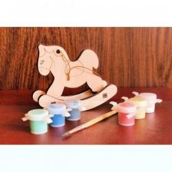 Лошадка - раскраска