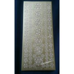 Наклейка контурная Снежинки №4