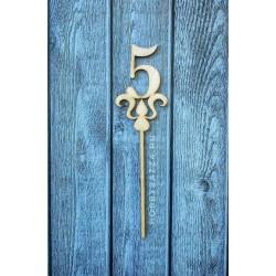 Топпер цифра 5