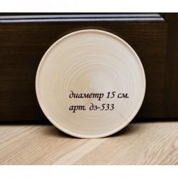 Тарелка из липы диаметр 14 см