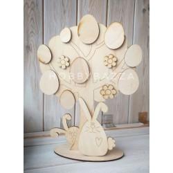 Интерьерное дерево Пасхальный кролик, заготовка для декора , купить