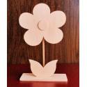 Цветок деревянный Ромашка