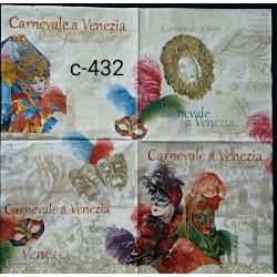 Салфетка Венецианские маски