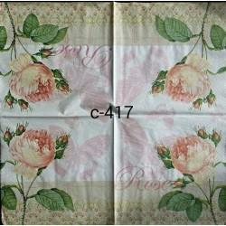 Салфетка Роза викторианская