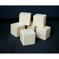Деревянная заготовка кубик 7*7
