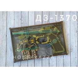 Набор Пистолет и мишень Грабители (зеленый)