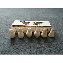 Набор елочных игрушек ( 6 штук в коробке)