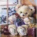 Салфетка Рождественский мишка
