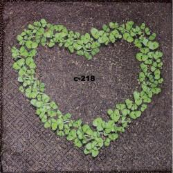 Салфетка Сердце из трав