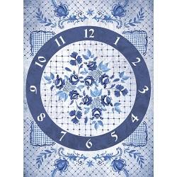 Рисовая бумага Гжель: часы
