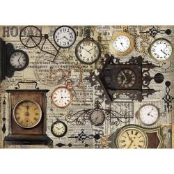 Рисовая бумага Винтажные часы