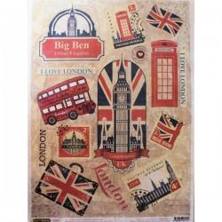 Рисовая бумага Символы Лондона