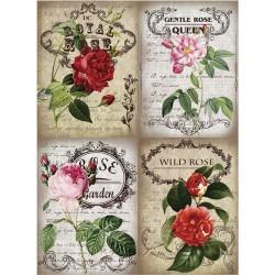 Рисовая бумага Королевские розы
