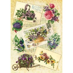 рисовая бумага Садовые цветы