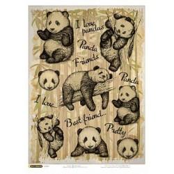 Рисовая бумага Мягкие панды