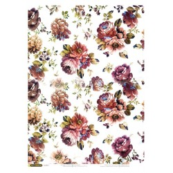 рисовая бумага Винтажные цветы