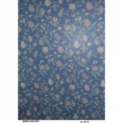 рисовая бумага Голубой фон с цветами