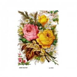 Рисовая бумага Букет с розами