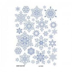 Рисовая бумага Снежинки