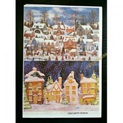 Рисовая бумага Зимний город Decoriti