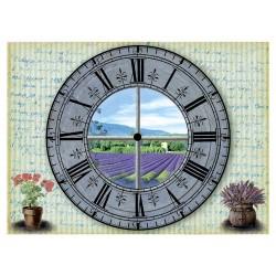 Рисовая бумага Часы: лавандовое поле
