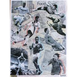 Рисовая бумага Футбол. История в лицах