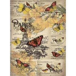 Рисовая бумага Открытка из Парижа