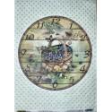 Рисовая бумага Часы: корзинка