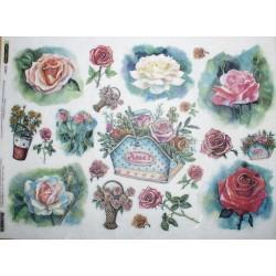 Рисовая бумага Цветы рисунок