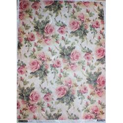 Рисовая бумага Шебби розы