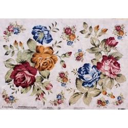 Рисовая бумага Синие цветы