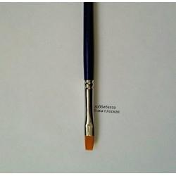 Кисть 6 мм плоская синтетика