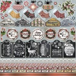 """Бумага для скрапбукинга """"Мелодии Рождества"""" Декор 16,5x16,5см"""