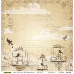 "Бумага для скрапбукинга ""На крыльях любви"" рамочки желтые"
